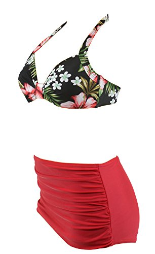 Aloha-Beachwear Damen Bikini A1023 Mehrfarbig Gr. 40 - 2