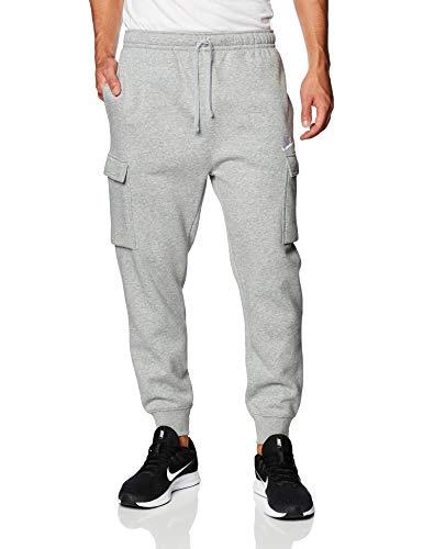 Nike Men's Sportswear Club Fleece Cargo Jogger Pants (M, Dark Grey)