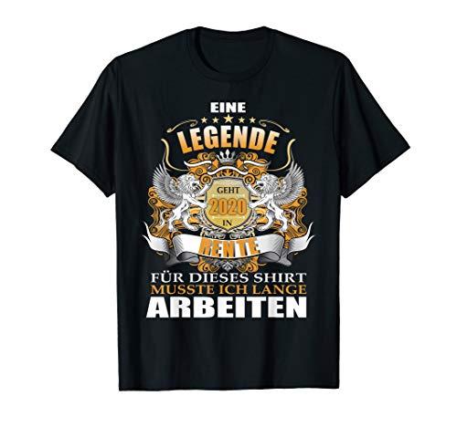 Herren Rentner eine Legende geht in den Ruhestand 2020 Rente Männer T-Shirt