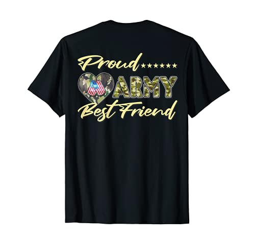 Médaille militaire en forme de cœur avec drapeau américain T-Shirt