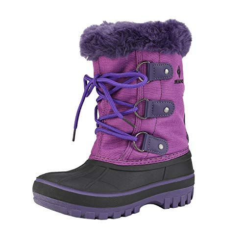 DREAM PAIRS Big Kid Forester Purple Ankle Winter Snow Boots Size 4 M US Big Kid