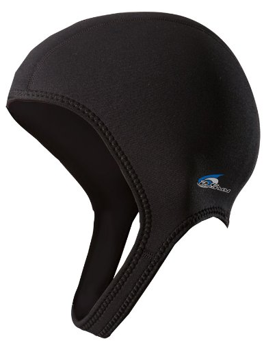 NeoSport Wetsuits Premium Neoprene 2.5mm Sport Cap, Black, Large - Diving, Snorkeling & Wakeboarding