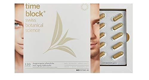 Timeblock® Antiaging Tag und Nacht Komplex mit Opc Traubenkernextrakt Vegan I Nutrition Nahrungsergänzung Anti Aging Kapseln mit Vitaminen Grüntee Algen Weizengras I Opc 120 Kapseln