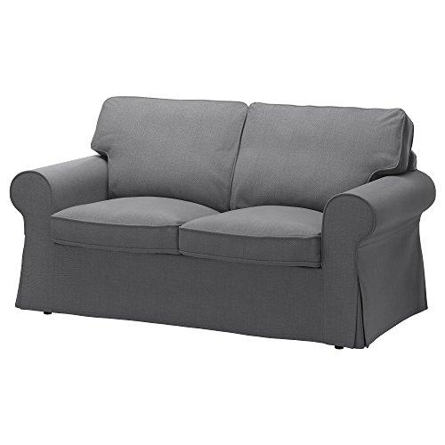 IKEA Original Ektorp Cover for Loveseat, (2-Seat Sofa) (Cover Only (Nordvalla Dark Gray)