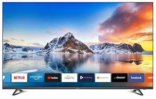 DYON Movie Smart 55 XT 138,7 cm (55 Zoll) Fernseher (4K Ultra-HD Smart TV, HD Triple Tuner (DVB-C/-S2/-T2), Prime Video, Netflix & HbbTV) [Modelljahr 2020]