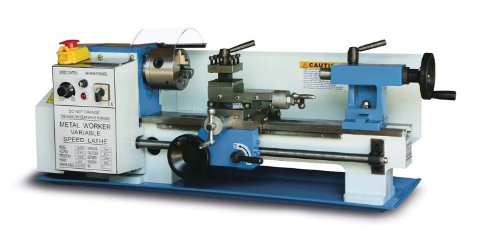 Learn More About Baileigh PL-712VS Variable Speed Bench Top Lathe, 60Hz 110V, 0.75hp Motor, 7 Swing...
