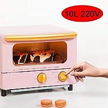 HIGHKAS Mini Horno 1000W 10L, máquina Desayuno multifunción para el hogar, Tostadas para Hornear, Pasteles, Pescado, etc, para Satisfacer su búsqueda Alimentos, Festival,