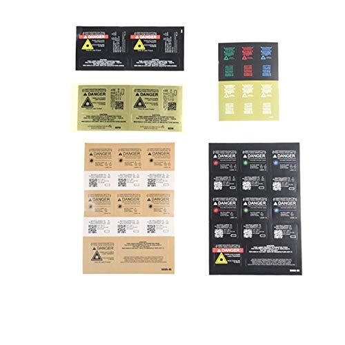 WADSN Airsoft Laser Battery Box Exterior Decorative Stickers for LA-5C PEQ15 DBAL-A2 (3PCS Black for PEQ15)