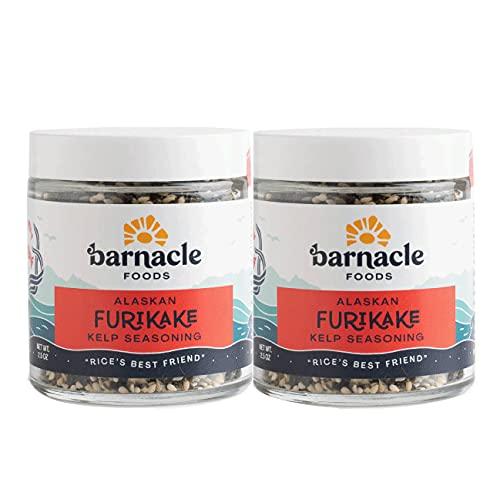 Barnacle Foods Furikake Kelp Seasoning   2.5 oz.   Japanese Inspired Rice Seasoning   Seaweed Seasoning For Rice, Seafood, Meats, Salads & Popcorn   Made in Alaska   2 Pack
