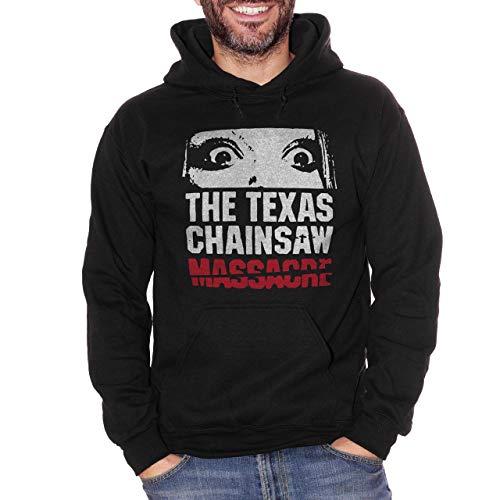 Felpa Non aprite Quella Porta - Texas Chainsaw Massacre - Film Horror Cult Anni 70 - Movie - Choose ur Color Nera Bambino M