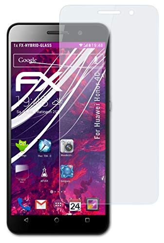 atFolix Glasfolie kompatibel mit Huawei Honor 4C Panzerfolie, 9H Hybrid-Glass FX Schutzpanzer Folie