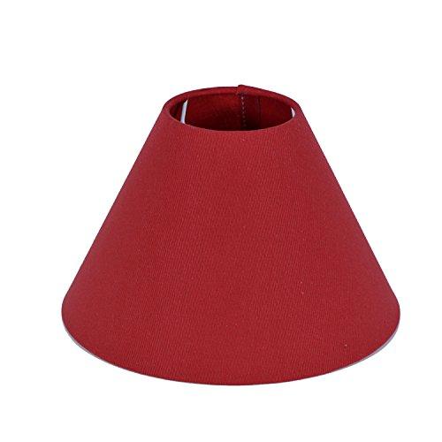 Lampenschirm für Tischleuchte in Rund Cotton Leinen Rot TL 20-8-13