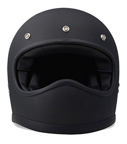 DMD Racer Motorradhelm, matt schwarz, L