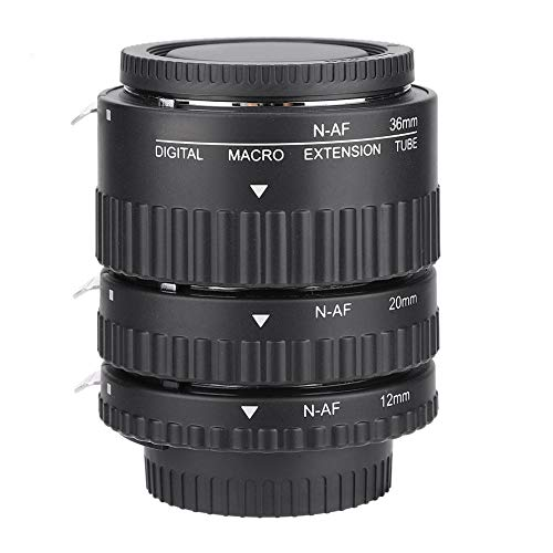 EBTOOLS Macro Adaptador Lente Autoenfoque, Autoenfoque Macro Extensión Lente Tubo 12mm + 20mm + 36mm para Nikon F Mount DSLR(UN)