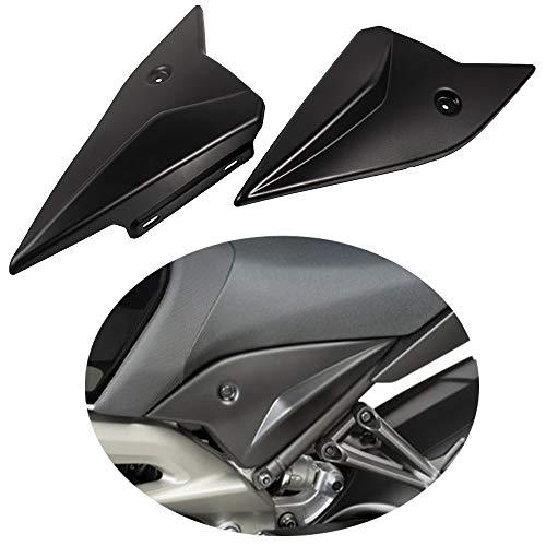 Motorradsitze Seitenverkleidungen ABS-Kunststoff Rahmenfüllplatten Verkleidungs Abdeckungs Satz für MT-09/FZ-09 2014-2018 (Schwarz)