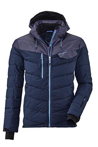 Killtec Herren Combloux MN Quilted Ski Jckt Jacke In Daunenoptik Mit Abzippbarer Kapuze Und Schneefang, Midnight, L