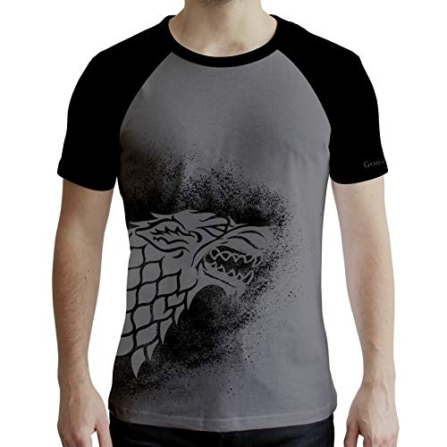 ABYstyle - Game of Thrones - Tshirt - Stark - Homme - Gris & Noir (M)