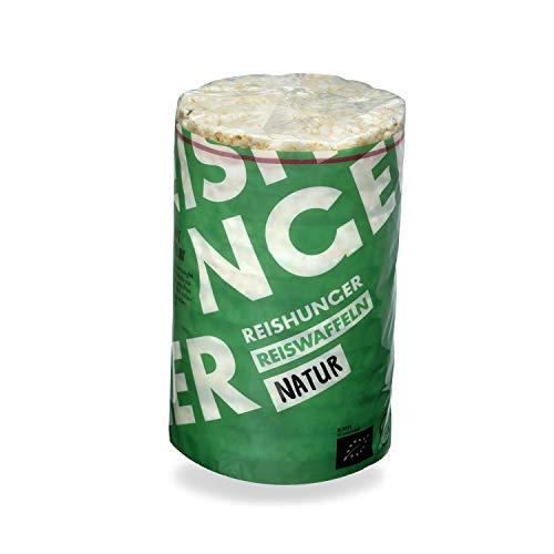 Reishunger BIO Reiswaffeln Natur aus Bio-Vollkorn Reis 100g - Auch in 6x100g & 12x100g verfügbar - Veganer, Glutenfreier & Fettarmer Snack ohne Zusatz von Salz & Zucker