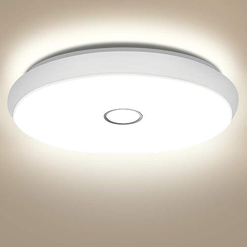 Plafonnier LED 42W, Öuesen Plafonnier Chambre Blanc Naturel 4000K Éclairage de Plafond Étanche IP44 Lampes de Plafond...