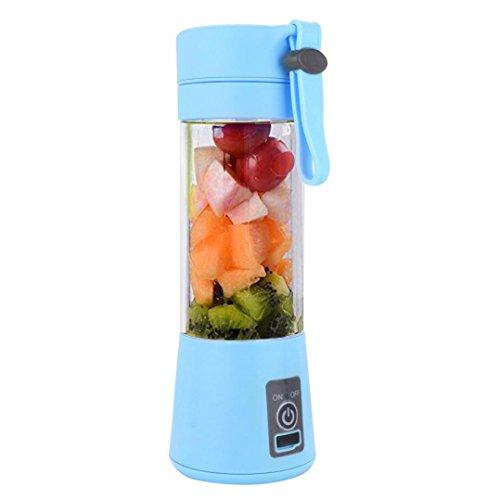 jus de fruits, Igemy 380 ml USB électrique Fruits Centrifugeuse à main levée Smoothie Maker blender Bouteille Tasse de jus jus Presse bleu