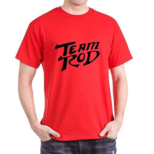 CafePress Team Rod Dark T Shirt 100% Cotton T-Shirt Red