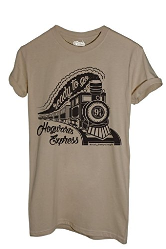 MUSH T-Shirt Hogwarts Express - Harry Potter - Film by Dress Your Style - Herren-XXL-Beige