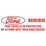 5x ppfordgpsred GPS dispositivo de seguimiento de seguridad rojo pegatinas de ventana transparente, 87x 30mm-car, Van alarma Tracker
