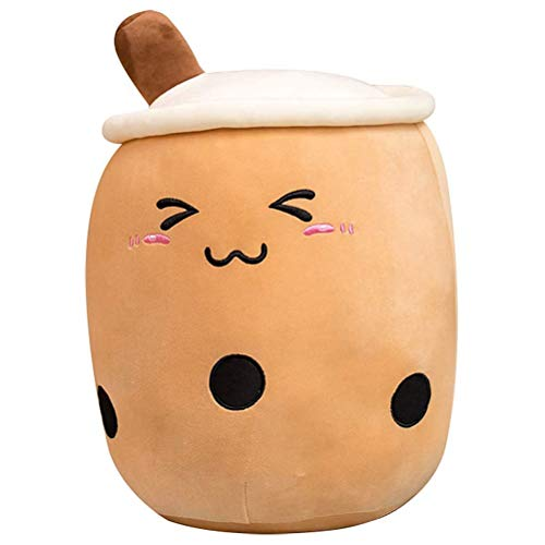 AYily 24cm/ 35cm Bubble Tea Plush Toy Stuffed Milk Tea Soft Doll Tea Cup Pillow Cushion Kids Toys Birthday Gift