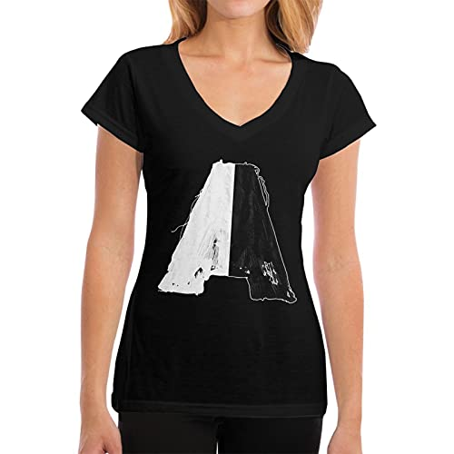 EDGHUOEIH Armin Van Buuren Balance Logo Moda Super Suave V-Cuello Camiseta Mujer