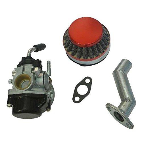 Générique Kit Motor carburador Filtro de Aire Colector de admisión juntas para 49cc 70cc 80cc motorizada bicicleta Mini Moto de 2tiempos