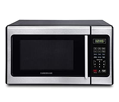 Farberware Classic FMO09AHTBKD Classic 0.9 Cu. Ft. 900-Watt Microwave Oven with LED Lighting, Stainless Steel