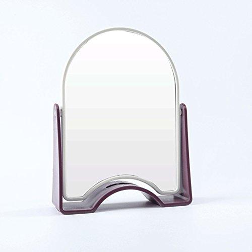 Rotary Mirror Queen Mirror Forme de bande dessinée Bureau Salle de bains Bureau Miroir De Mode Miroir De Mode Dortoirs Double Miroir HD Miroir Simple Mode Xuan - worth having (Couleur : Violet)
