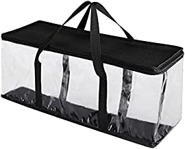 Babibob Home DVD Storage Bags - Transparent PVC Media Storage Portable DVD Holder for DVDs/CDs/Blu-ray/Video Games Organizer with Zipper Closure & Carrying Handles (35 DVDs Each)