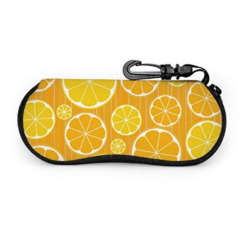Cute Orange Fruits Cartoon Sunglasses Travel Case Sunglass Pouch Light Portable Zipper Soft Case Eyeglasses Case Holder