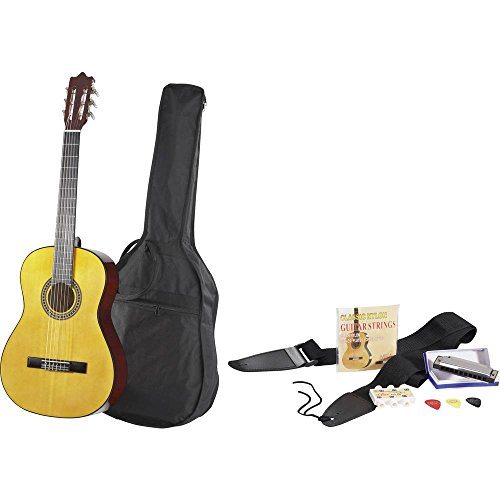 Set guitare de concert MSA Musikinstrumente 4/4 naturel ave
