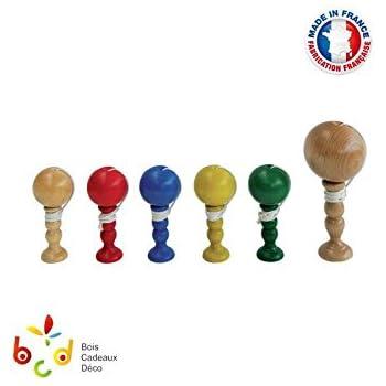 Bilboquet en bois, artisanat Français, modèle junior