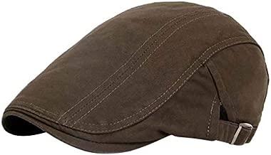 Men Golf Caps Solid Tage Golf Caps Peaked Hat Linen Cotton Retro Outdoors Golf Beret Flat Cap : SK