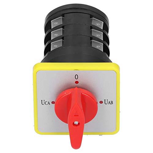 0-UAB-UBC-UCA Interruptor de leva eléctrico Cambio de fase de voltaje 110-380V 16A Interruptor de transferencia universal LW5D-16YH3 / 3