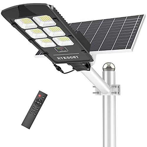 Solar Street Light, 500W Solar Parking Lot Lights Dusk to Dawn Outdoor Solar Lights, IP66 Waterproof 6500K Street Light Solar Powered Lighting for Garage,Garden,Patio (792 LEDs)