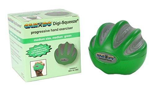 FEI 101982 Fabrication Cando DigiSqueeze Hand/Finger Exerciser Medium Green