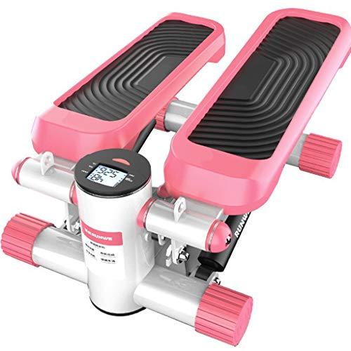 YUESFZ Stepper Crosstrainer Stepper Test Heimtreppenmaschine Fitnessgeräte Elastische Gewichtsverlust Übung Einfache Aerobic-Laufmaschine Für Herren (Color : Pink, Size : 35 * 30 * 16.5cm)