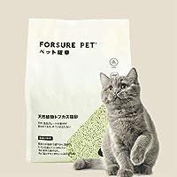 猫砂 トフカスの猫砂 ペット確幸 飛び散らない トイレに流れる8L約3.2kg(グリーンティ-1)