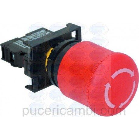 Puce PULSANTE ARRESTO A FUNGO ROSSO C/BLOCCO 4059843