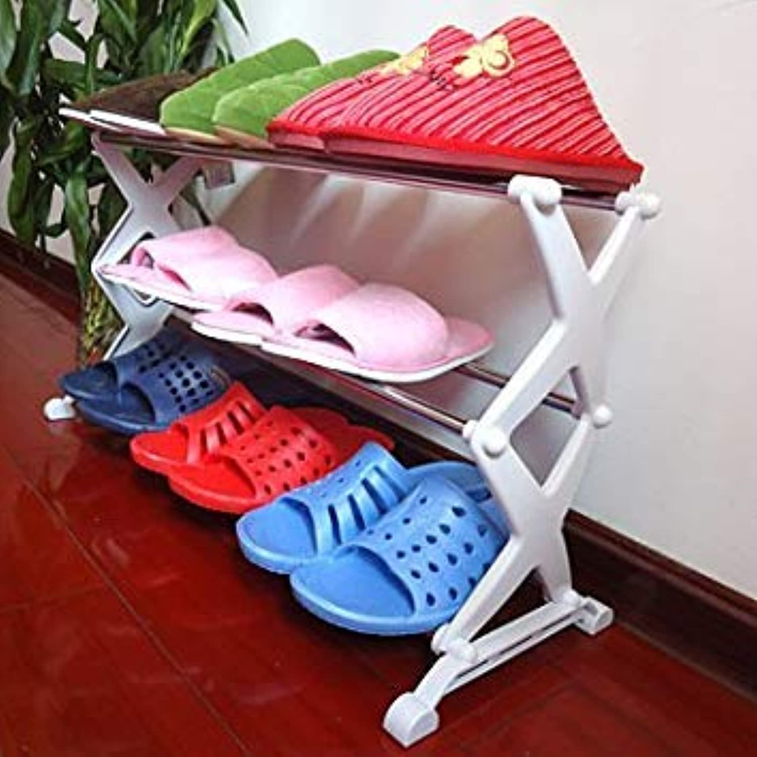 Generic Export Quality Stainless Steel shoes Rack, shoes Storage Rack Three five-E8989