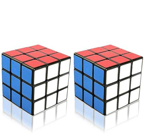 Ilink 2Pack Classic Standard 3x3 56mm Smooth Speed Reliable Puzzle – Professional Original Magic Cube for Kids and Adults