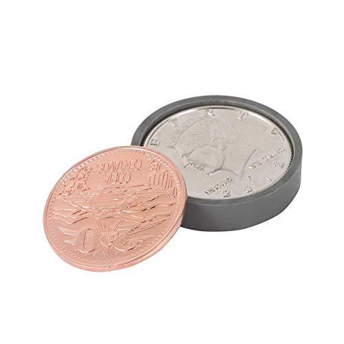 Monete Magiche, Trucco di Moneta Magica Mago Puntelli Trucco Divertente per i Bambini, Anello di Plastica e Monete