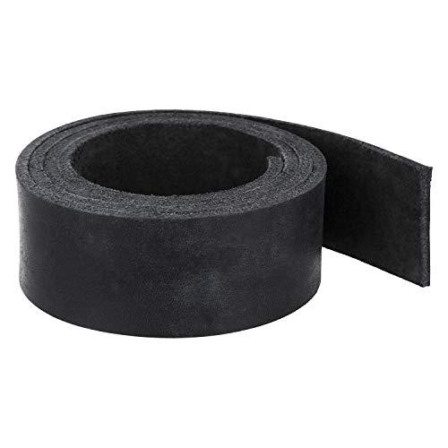 AURORIS - Voll-Lederriemen - 200 x 3,0 x 0,35 cm - schwarz