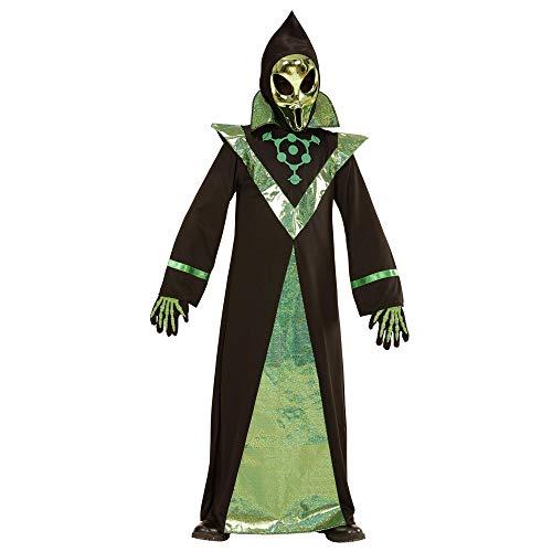 WIDMANN 03987?Disfraz para niños Alien, Perchero y máscara , color/modelo surtido