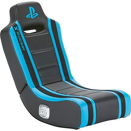 X Rocker Playstation Geist 2.0 Floor Rocker Gaming Sessel mit 2.0 Soundsystem für Kinder & Jugendliche