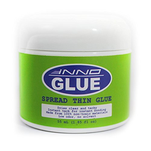 Innoglue, Wrinkle Free Glue, Instant Tack and Bond, Acid-free, Repositionable, Arts Craft, 55ml, Scrapbooking, Greeting Card, Water Based Adhesive, Thixotropic Paste, Dries Clear, Glitter Glue, Non-toxic ASTM-D4236, Spread Thin Glue